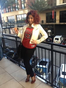 My jordan jersey :D Jacket: Agaci; Shoes: Jessica Simpson